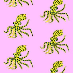Blue Ringed Octopus on pink