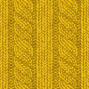 Fall Cable Knit in Mustard