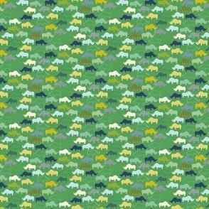 African Rhinos - Extra Tiny