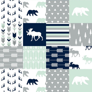 """(4.5"""" scale) northern lights patchwork wholecloth 