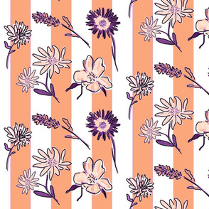 Mimi's Whimsical Wildflowers (apricot & amethyst)