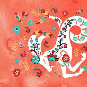 Boho Zodiac Sign- Capricorn Astrology Tea Towel