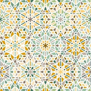 kaleidoscope in green and yellow