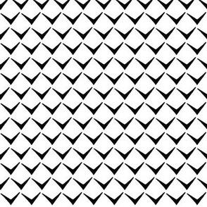 Black and white V