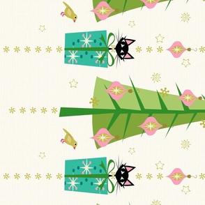 Vintage Kitten Holiday - Border Print ©studioxtine