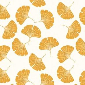(small scale) ginkgo leaves - saffron - LAD19
