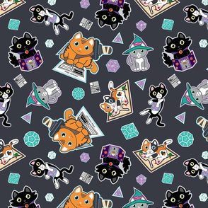 cat meow Finder gray bigger print size