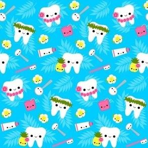 Happy Hawaii Teeth - Blue