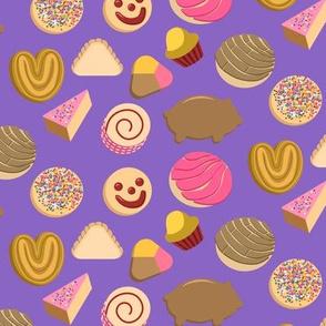 Mexican Bread Pan Dulce Purple