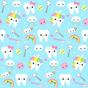 Happy Unicorn Teeth - Blue