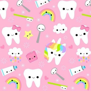 LARGE Happy Unicorn Teeth - Pink
