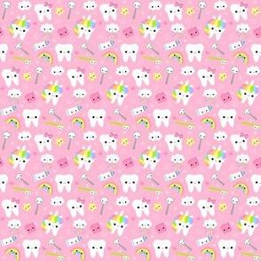 SMALL Happy Unicorn Teeth - Pink