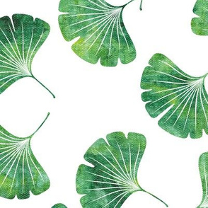 ginkgo leaves - green - LAD19