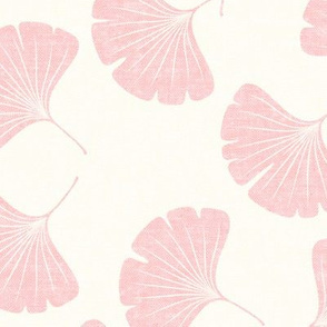 ginkgo leaves - pink - LAD19