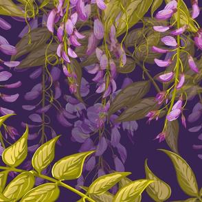 Large Wisteria Dream | Purple