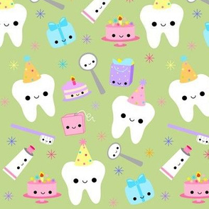 LARGE Happy Party Teeth - Light Green
