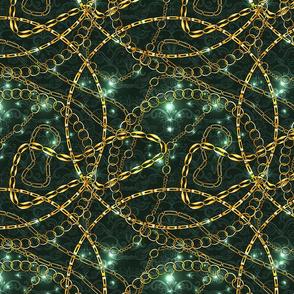 Chains in Malachite