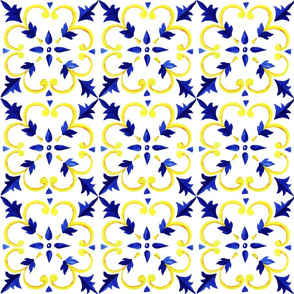 Azilejo Tiles Blue and Yellow