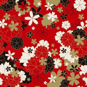 Red Festive Kimono