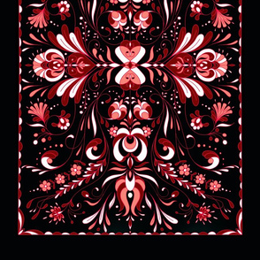 folk art tea towel 5