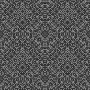 Kaleidoscope monochrome seamless pattern.