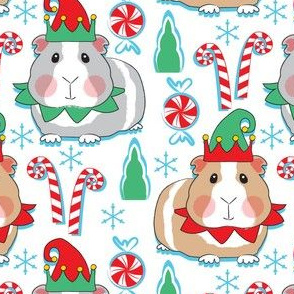 christmas elf guinea pigs and candy