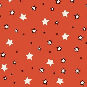 Zodiac Stars Orange Background