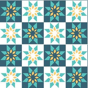 Geometric Floral Block-01