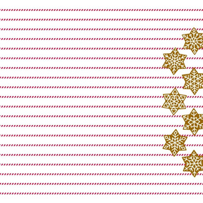 Gingerbread and peppermint stick tea towel snow flakes