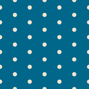 Deep Blue Polka Dots