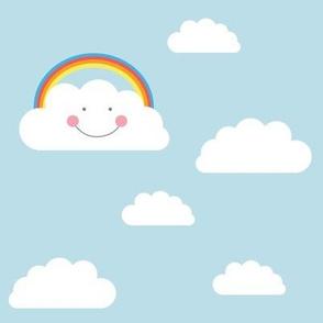happy RAINBOW clouds