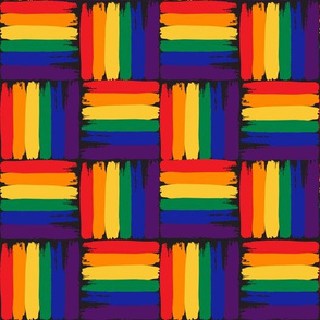 gay flag mosaic