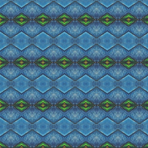 Blaue Quergestreifte Geometrics