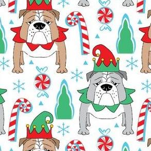 Christmas elf bulldogs