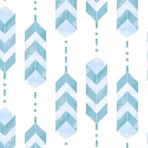 Feathers Geometric Pattern