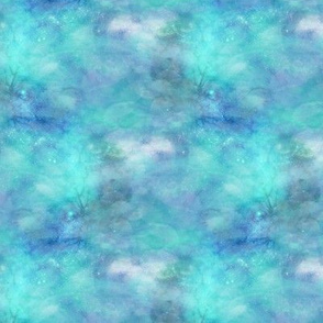 sky coordinate to rabbits on clouds turquoise aqua blue FLWRT