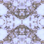 Snow Leopard Quartz and Gold