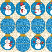 Snowmen Ornament Pouches-Blue