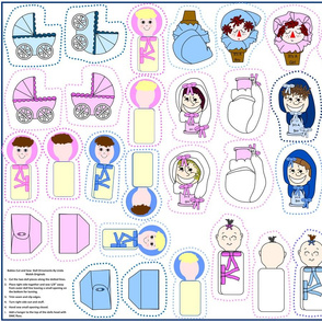 Babies Cut and Sew Doll Ornaments Group