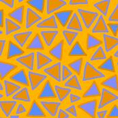 Triangle - Orange Blue