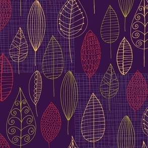 October with Eggplant Background