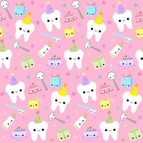 Happy Birthday Party Teeth - Light Pink