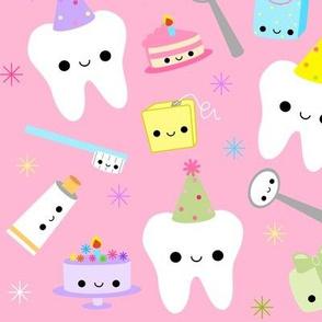 XL Happy Party Teeth - Pink