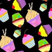 Neon Cupcakes black