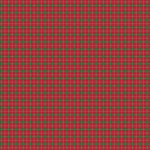 Christmas Berry Red and Green Tartan with Beige and White Lines
