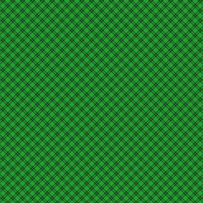 Christmas Holly Green and Argyle Tartan Plaid with Crossed White and Red Lines