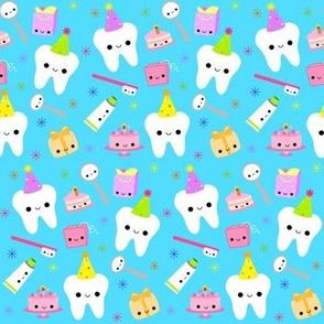 Happy Party Teeth - Blue