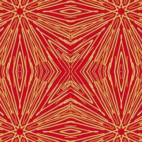 Star Sparklers on Festive Red