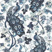 Chinoiserie Peacock Blue