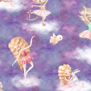 dancing on clouds ballerina purple FLWRHT
